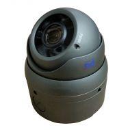 DOM-TVSR5M212EG-B Gray 5MP Varifocal Lens Dome w/Base