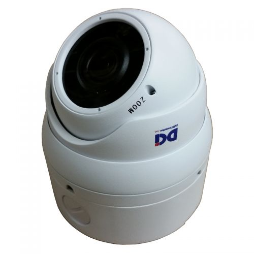 DOM-TVSR5M212EW-B White 4MP Varifocal Lens Dome w/Base