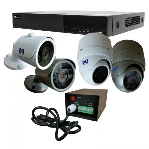 DVR-T5ED4404HKT 4ch 5MP DVR Kit w/Cameras
