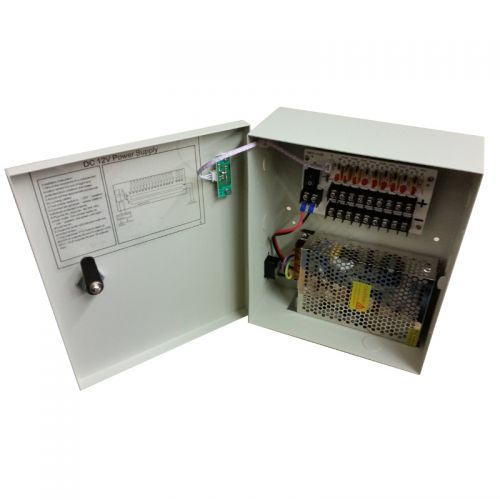 PSP-12VDC9P 12V DC 10A 9 port power distribution panel